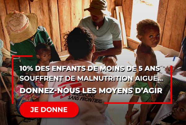 10% des enfants de moins de 5 ans souffrent de malnutrition aiguë…Donnez-nous les moyens pour leur venir en aide